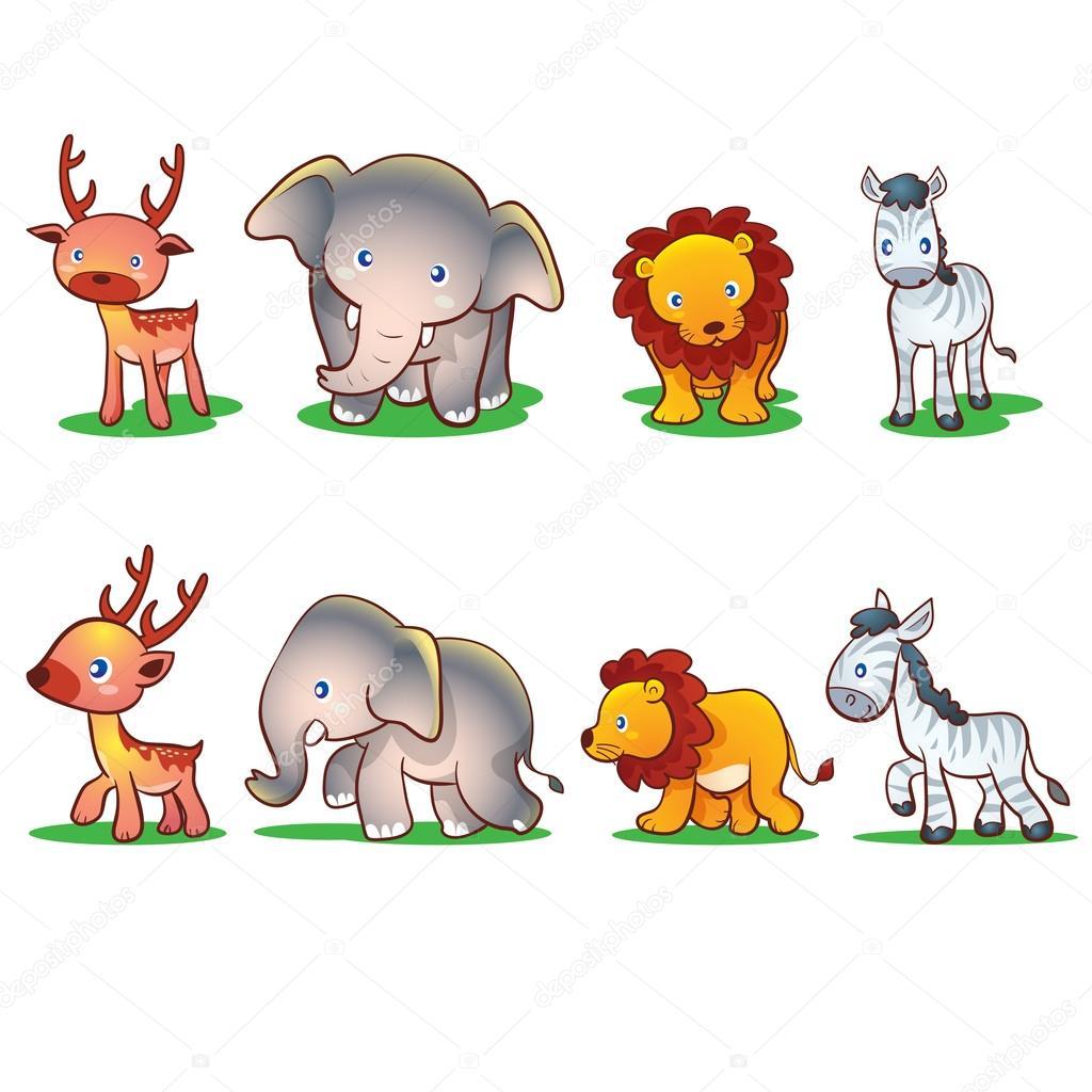 Sevimli Hayvanlar çizgi Film Stok Vektör Watcartoon 79281288