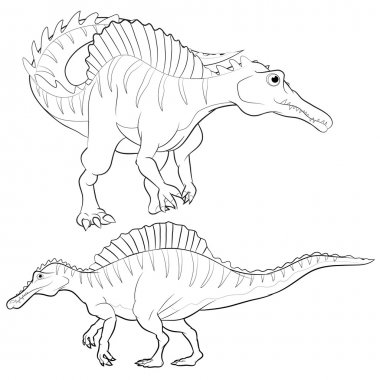 Cute struthiomimus cartoon