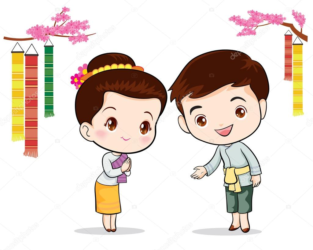 Thai  traditional welcome sawasdee