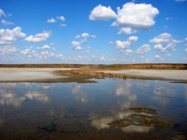 Amazing landscape of lake Elton