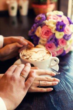 coffee newlyweds and love