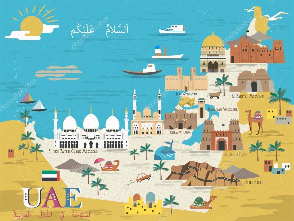 karta uae UAE resa koncept karta — Stock Vektor © HstrongART #112520964 karta uae
