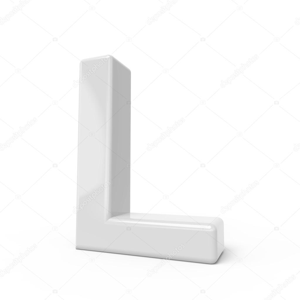 3d rendering white letter l stock photo c hstrongart 123157058 https depositphotos com 123157058 stock photo 3d rendering white letter l html
