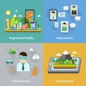 Fényképek virtuális valóság koncepció gyűjtemény
