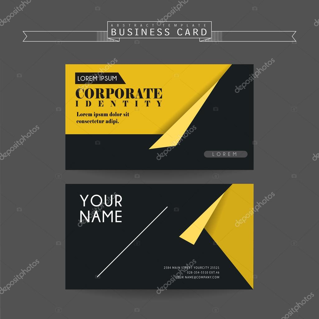 attractive business card template — Stock Vector © HstrongART #93066690