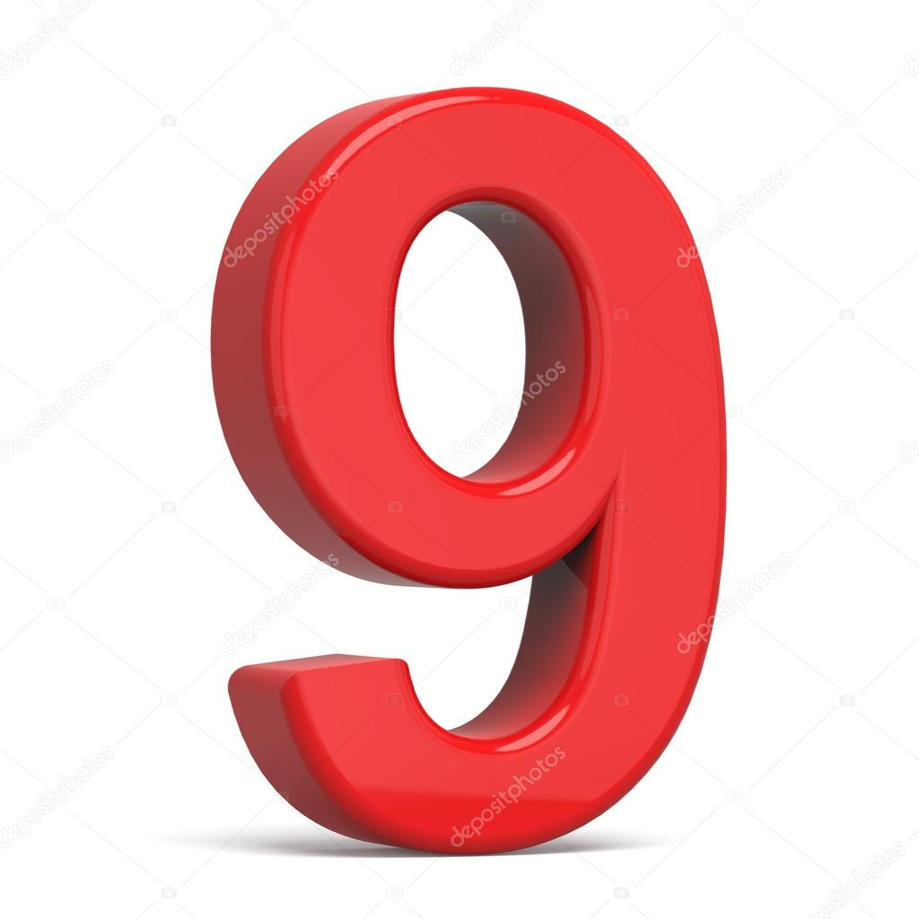 3d plastic red number 9  u2014 stock photo  u00a9 hstrongart  94816180
