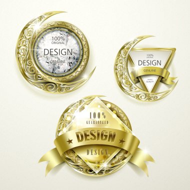 sumptuous gold and jewelry labels design
