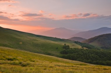 Colorful summer landscape in the Carpathian mountains