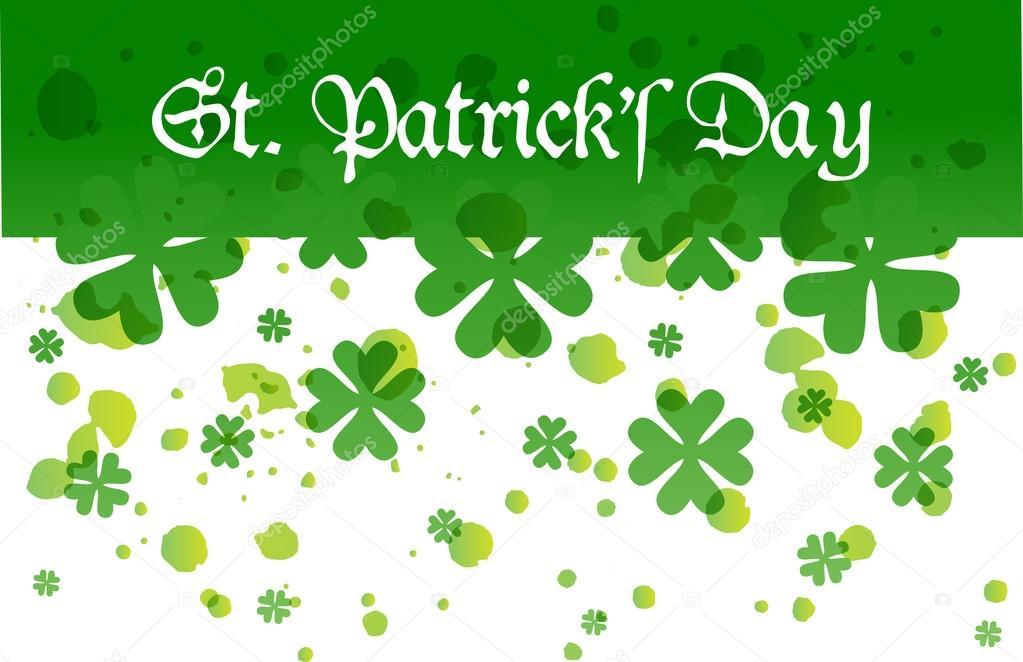 Día fondo de feliz Santo Patrick — Archivo Imágenes Vectoriales ...