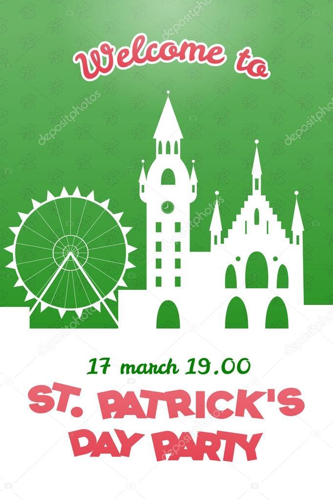 St. Patrick\'s Day party invitation — Stock Vector © Svetana_Kurako ...