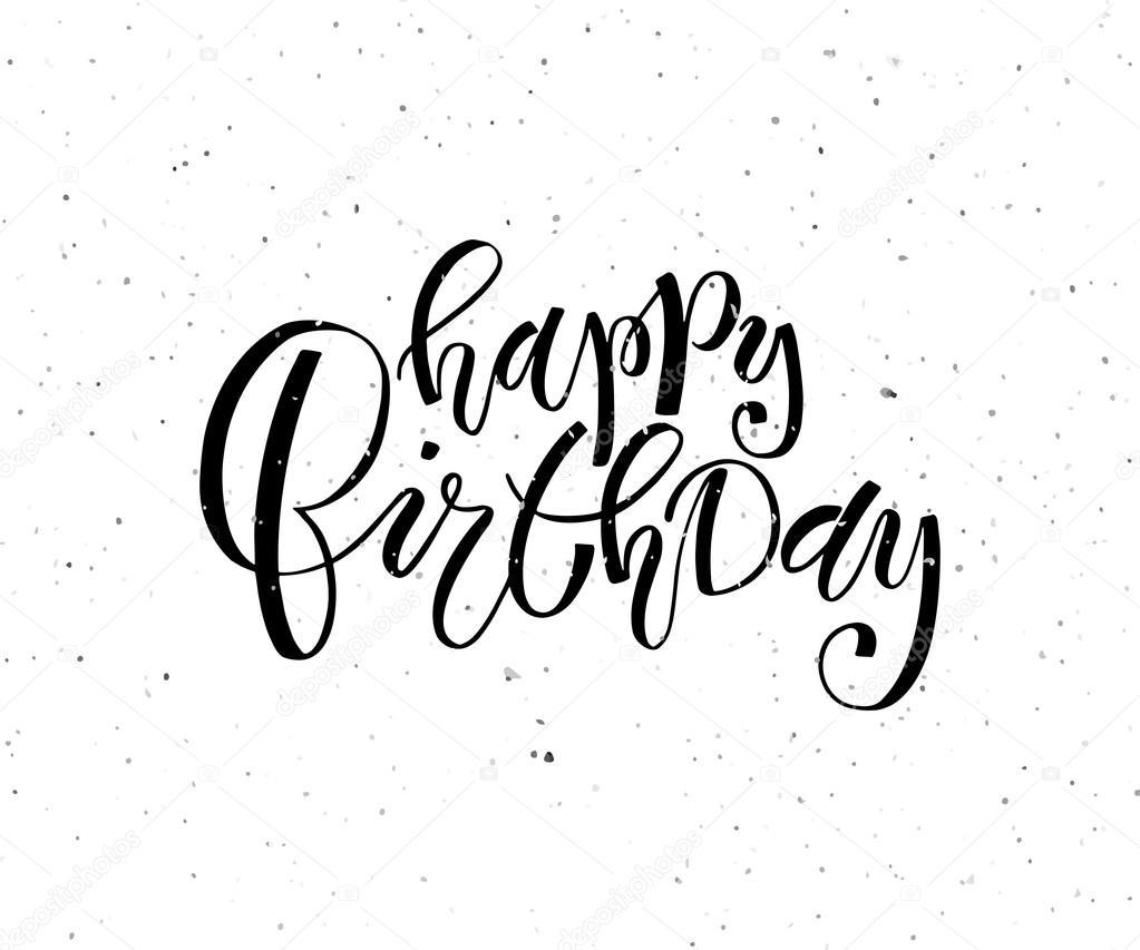 Hand Skizziert Happy Birthday Text Als Geburtstag Logo Stockvektor