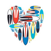 vector illustration of stand up paddle boards and paddles set  w