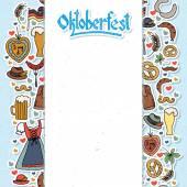 Vektorové ilustrace Oktoberfest prvků sada