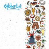 Fotografie Vektor-Illustration der Oktoberfest-Elemente festlegen