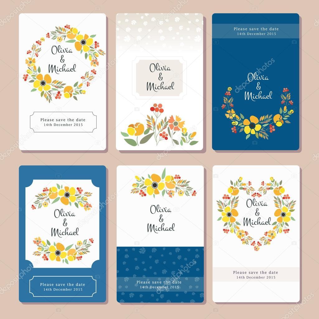 Autumn wedding graphic set