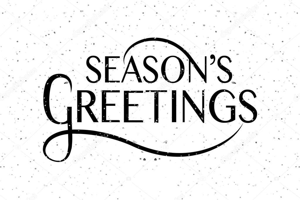 Seasons greetings typography for christmasnew year greeting ca hand sketched seasons greetings logotype badge and icon typography hand drawn lettering of seasons greetings for christmasnew year greeting card m4hsunfo