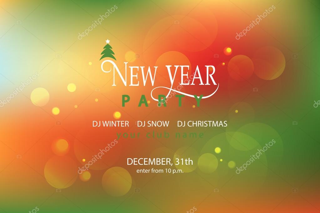 lettering for new year party invitation card template vector de stock