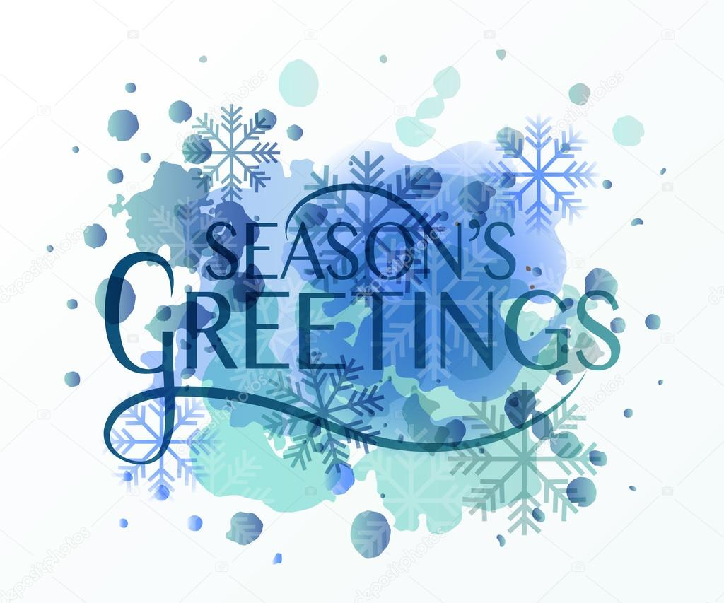 Hand Sketched Seasons Greetings Logotype Badge And Icon Typogr