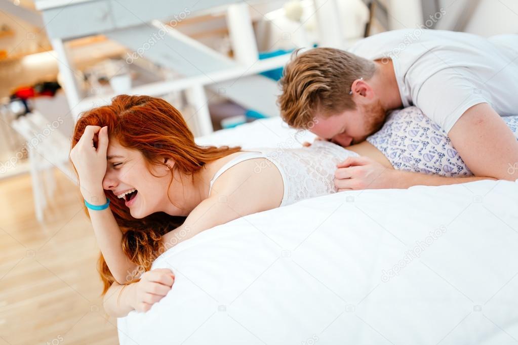 Passionate couple making love — Stock Photo © nd3000