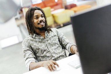 designer workin on computer