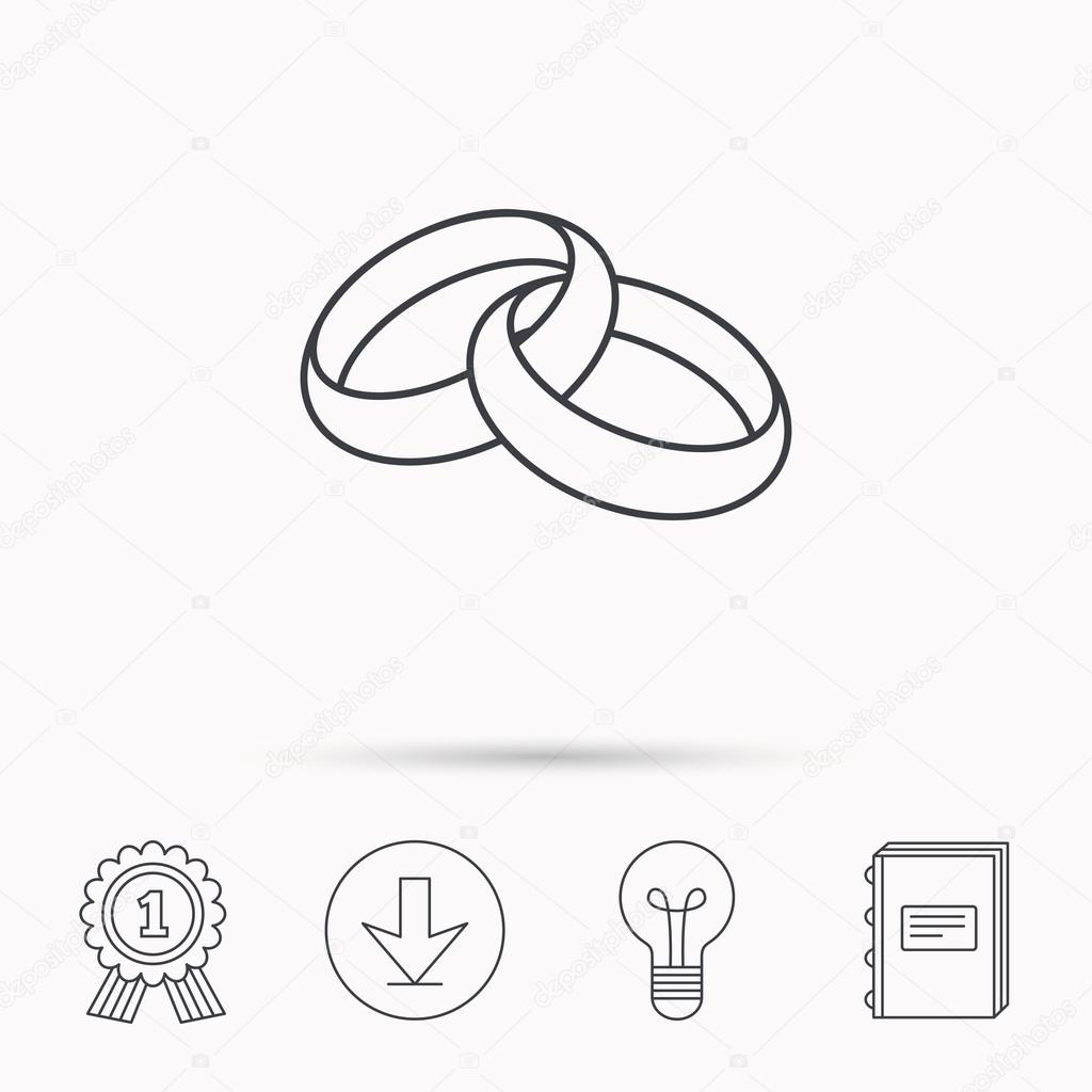 Wedding Rings Icon Bride And Groom Jewelery Stock Vector: Icon Wedding Ring Bride At Reisefeber.org