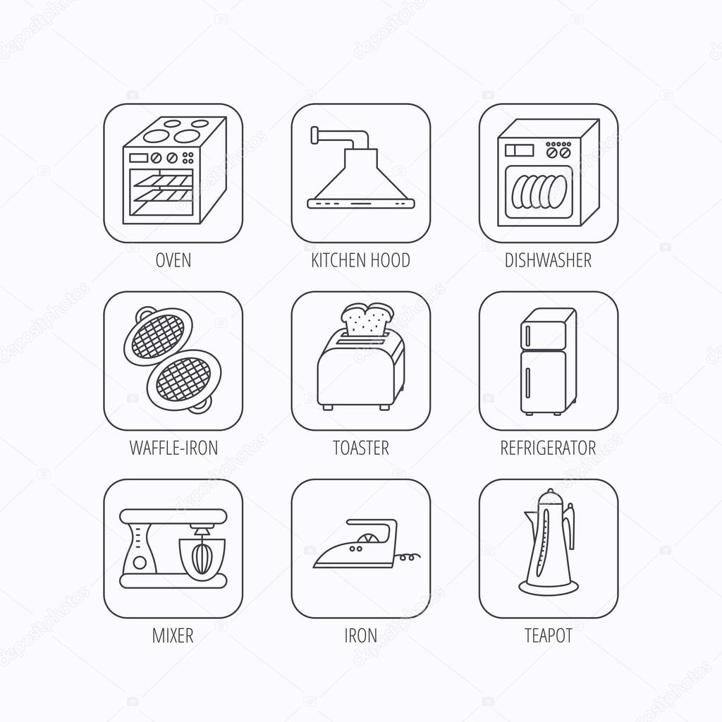 Extrem Spülmaschine, Kühlschrank und Mixer-Symbole. — Stockvektor DE37