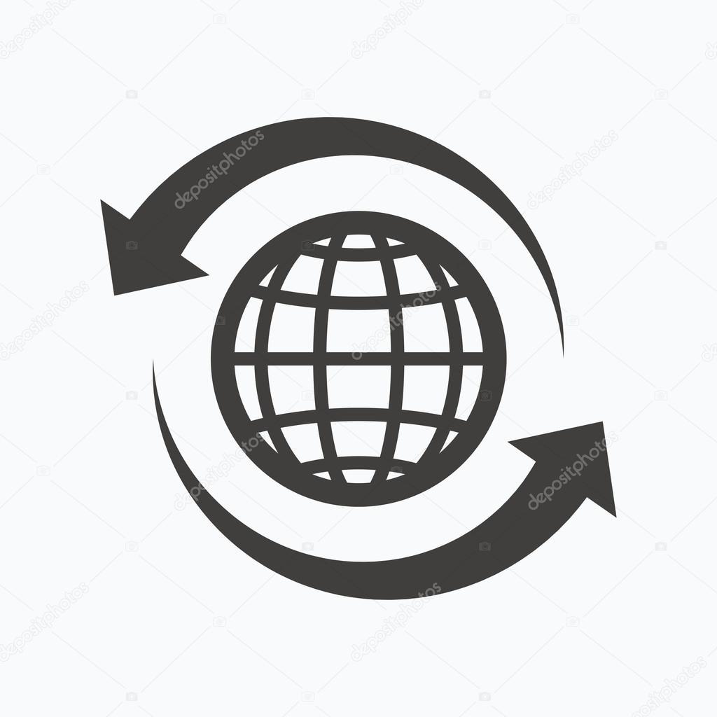 Globe icon  World or internet sign  — Stock Vector