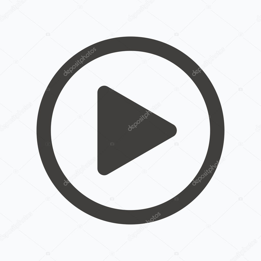 Play Icon Audio Or Video Player Sign Stock Vector Tanyastock