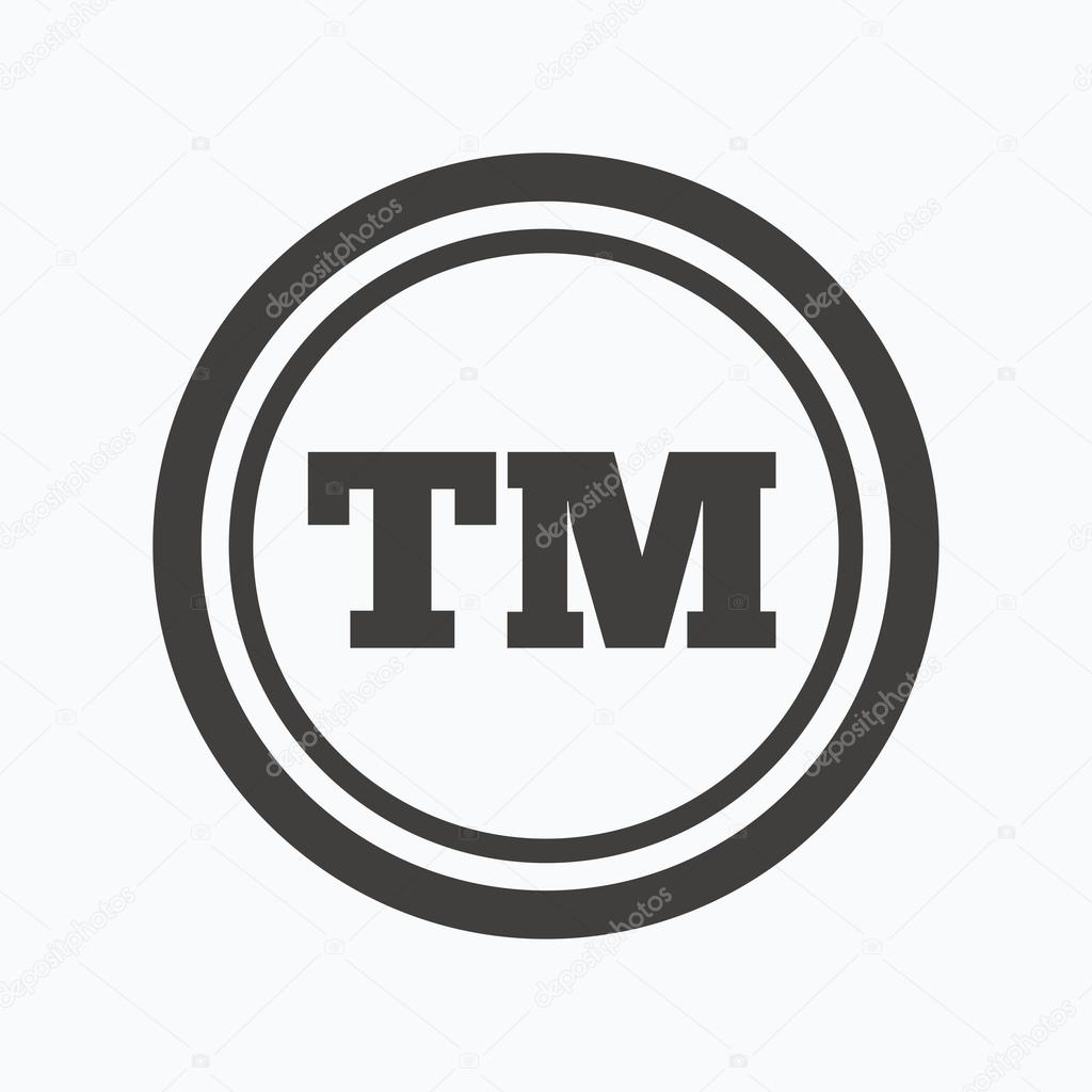 Registered tm trademark icon intellectual work stock vector registered tm trademark icon intellectual work protection symbol gray flat web icon on white background vector vector by tanyastock buycottarizona
