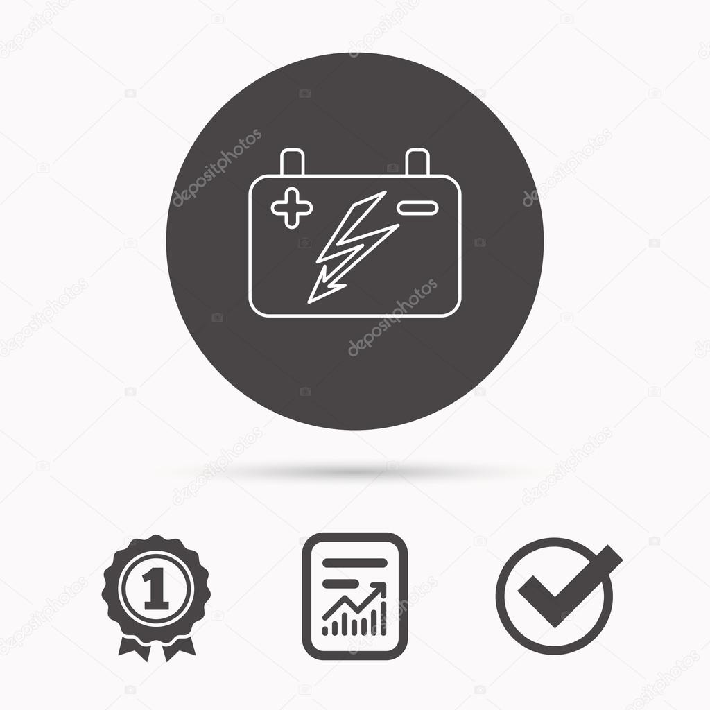 Accumulator icon. Electrical battery sign. — Stock Vector ...