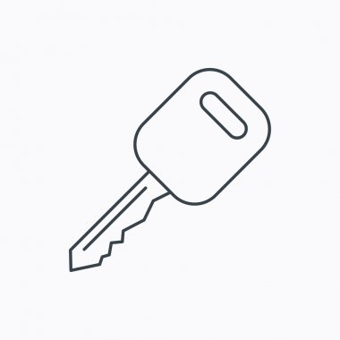 Car key icon. Transportat lock sign.