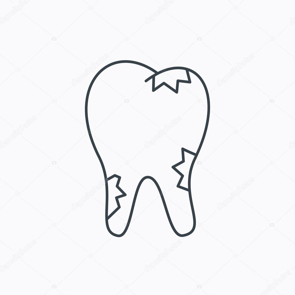 Caries Icon Tooth Health Sign Stock Vector C Tanyastock 80121556