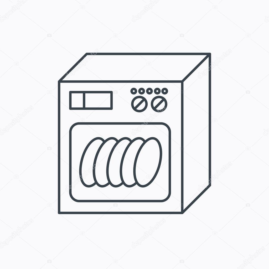 Bevorzugt Geschirrspüler-Symbol. Küche-Einheit Zeichen. — Stockvektor JQ64