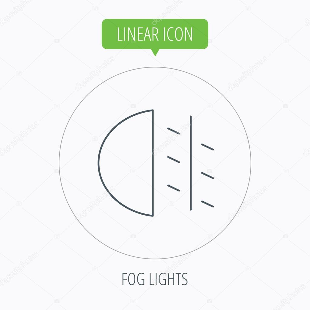 Fog Lights Icon Car Beam Sign Stock Vector Tanyastock 80125410