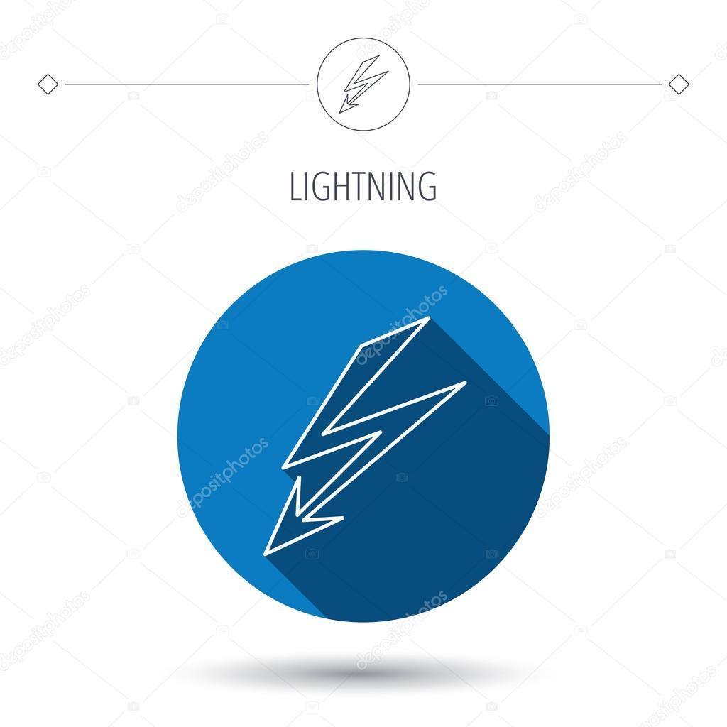 Blitzsymbol. Strom-Versorgung Zeichen — Stockvektor © Tanyastock ...