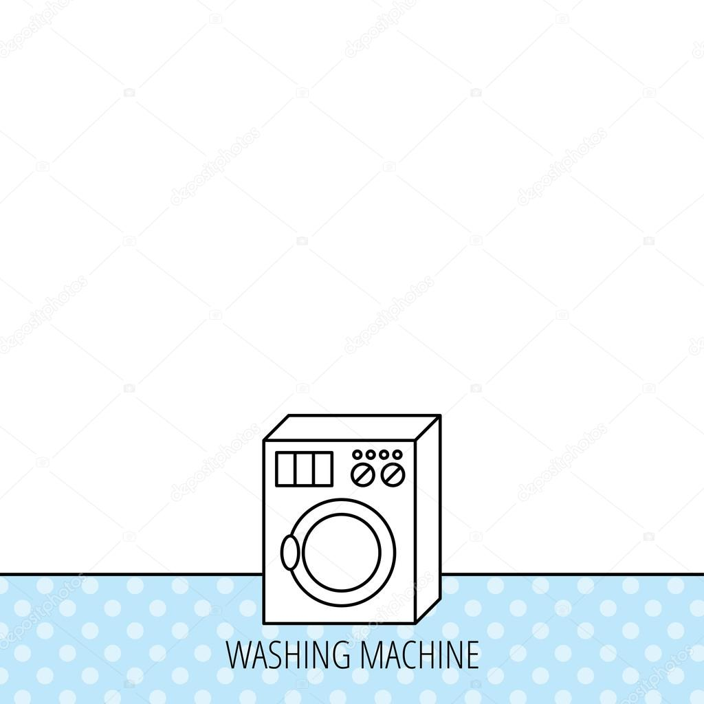 Waschmaschine Symbol Waschmaschine Zeichen Stockvektor