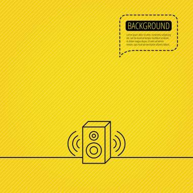 Sound icon. Musical speaker sign.