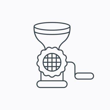 Meat grinder icon. Manual mincer sign.