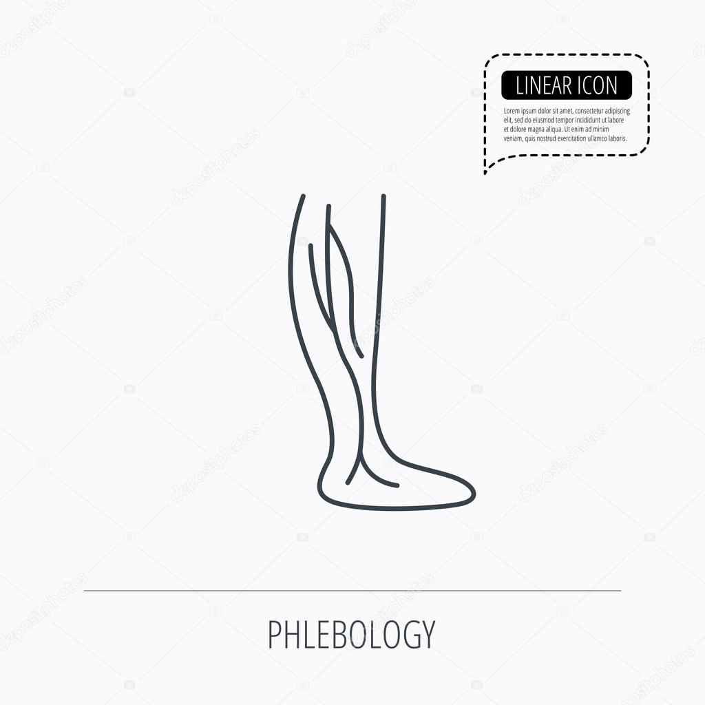 Phlebologie-Symbol. Bein-Venen-Zeichen — Stockvektor © Tanyastock ...