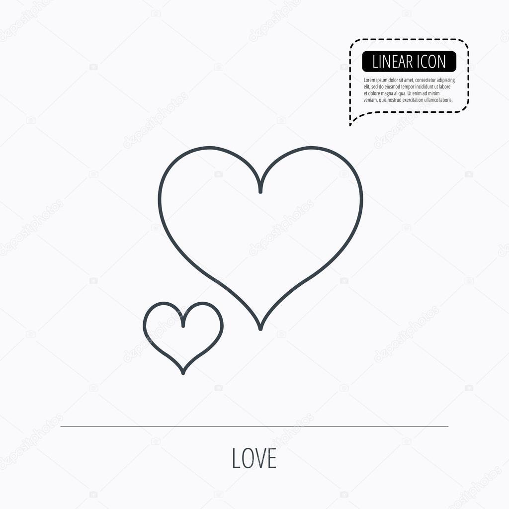 love hearts icon lovers sign stock vector tanyastock 85020112