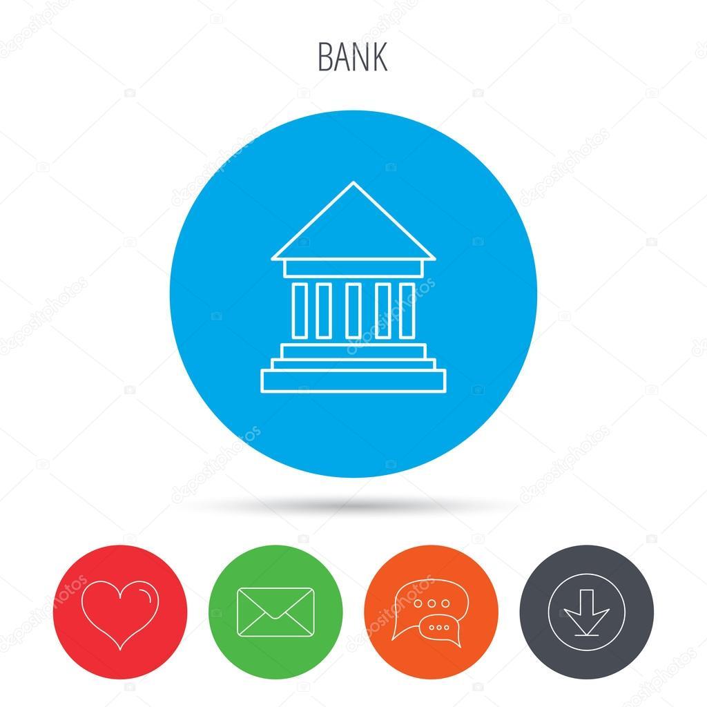 Bank-Symbol. Gericht Haus Zeichen — Stockvektor © Tanyastock #86663912