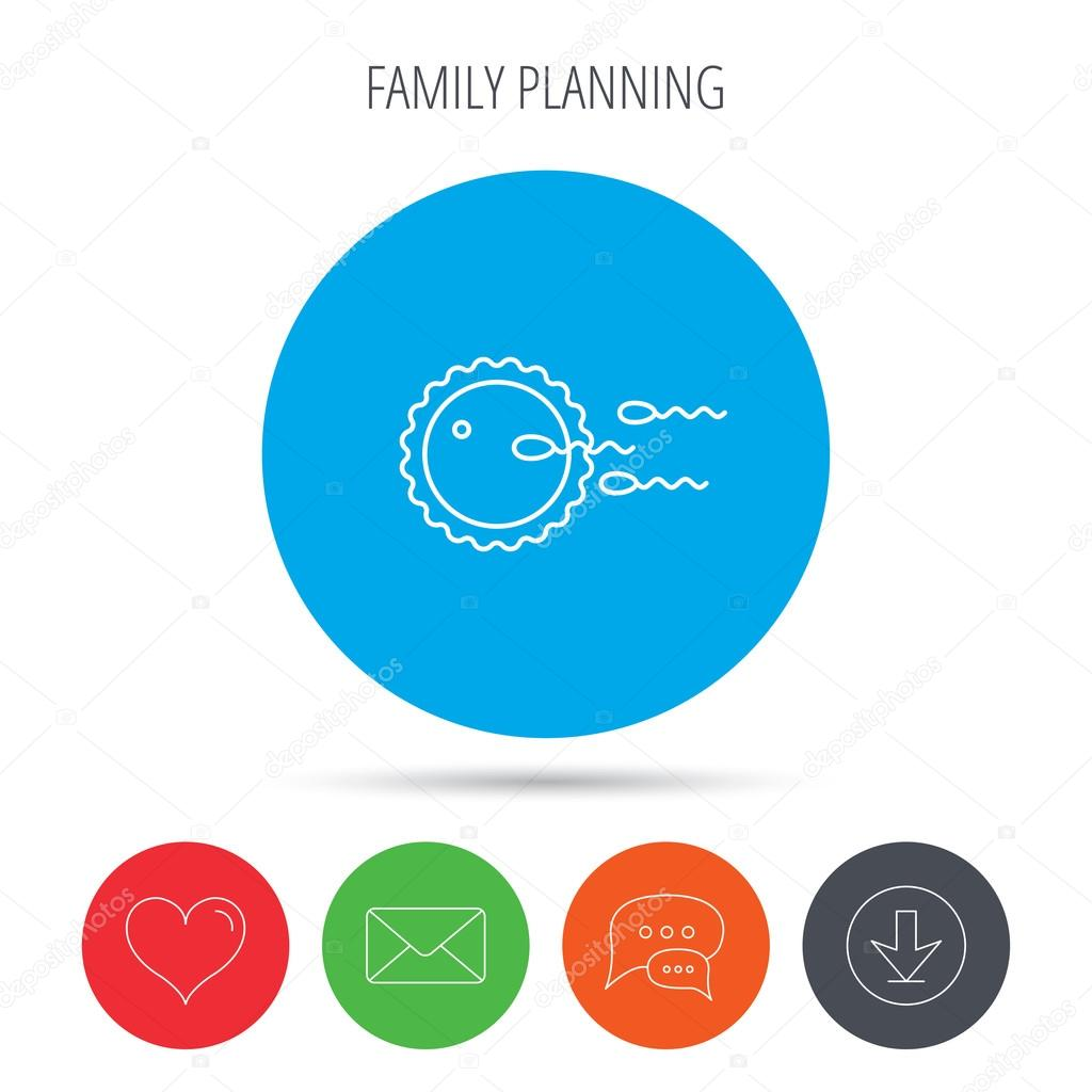 Family Planning Icon Fertilization Sign Stock Vector
