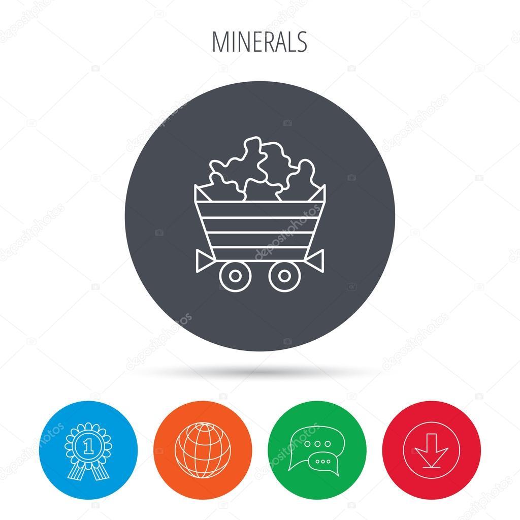 Mineralien Symbol Schubkarre Mit Juwel Edelsteine Stockvektor