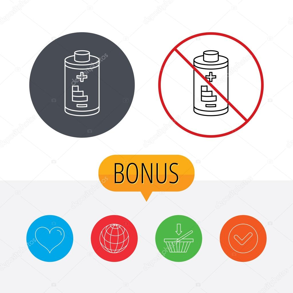 Battery icon. Electrical power sign. — Stock Vector © Tanyastock ...