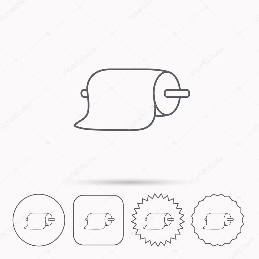 Papier-Handtücher-Symbol. Küche-Hygiene-Zeichen — Stockvektor ...