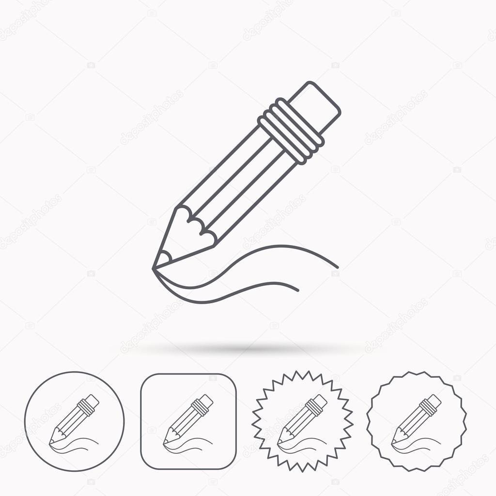 Pencil icon. Drawing tool sign. — Stock Vector © Tanyastock #91492068