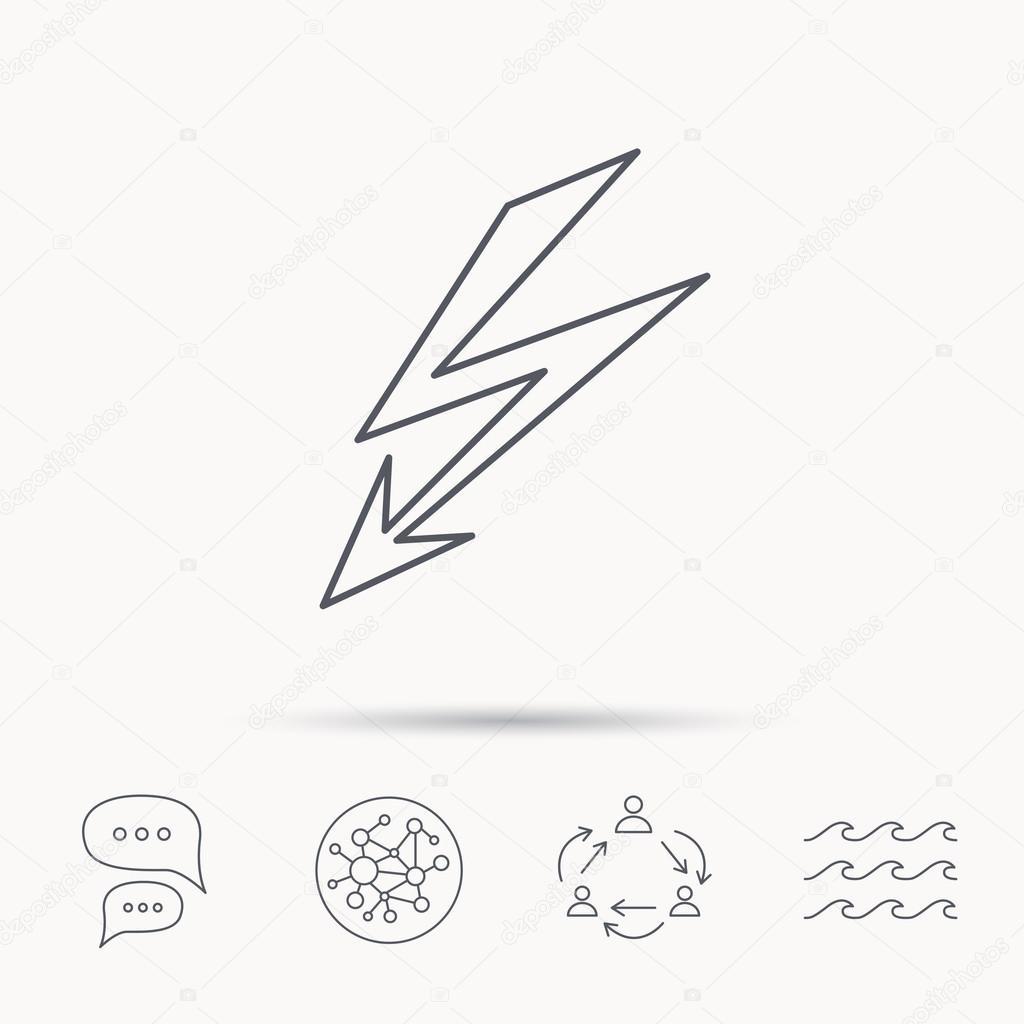 Lightening bolt icon. Power supply sign. — Stock Vector © Tanyastock ...