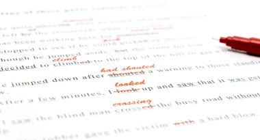 spelling check on English sentences