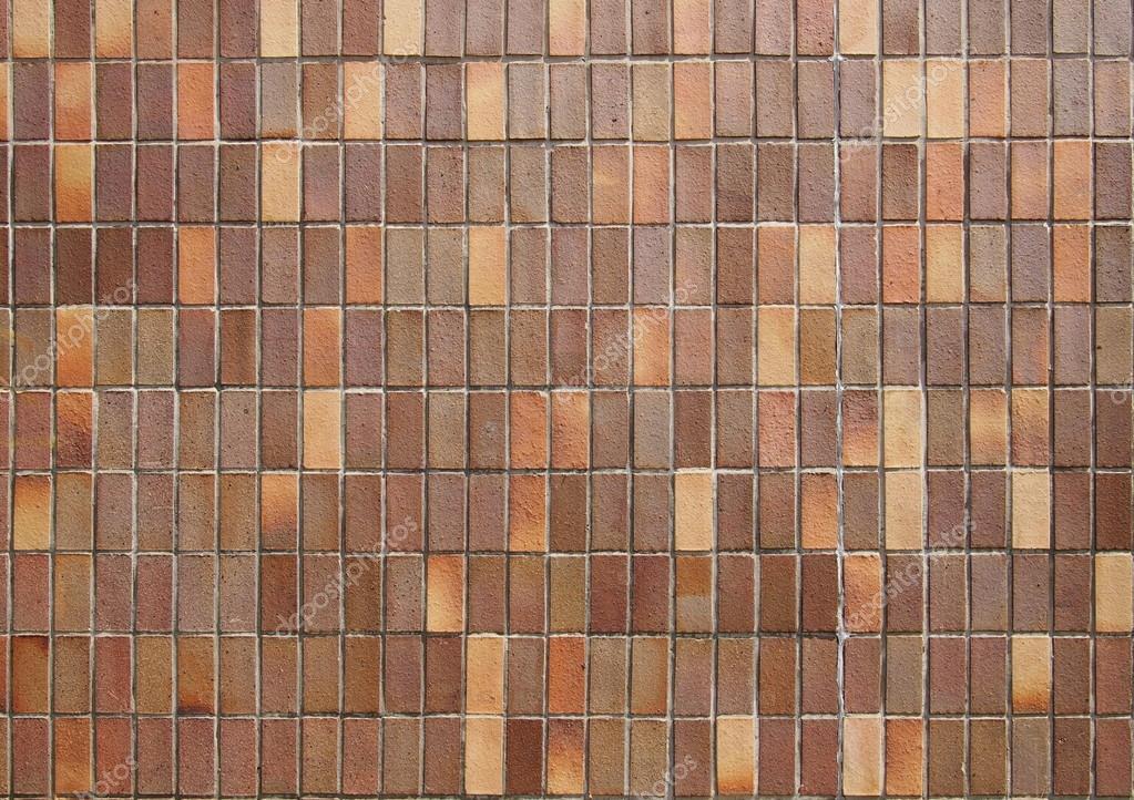 Rivestimento delle mattonelle rettangolari marrone u foto stock