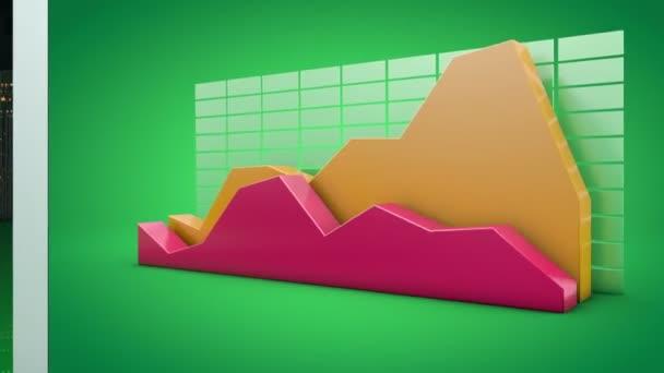 növekvő üzleti diagram hordozhatószámítógép-képernyő